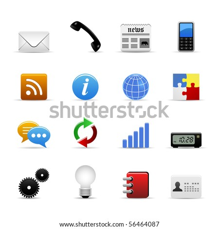 Universal Icons Set Vector - stock vector