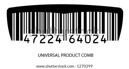Universal Product Comb - stock vector