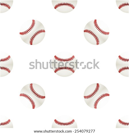 Universal vector baseball seamless patterns tiling. Sport theme with balls. Endless texture can be used for wrapper, cover, package, pattern fills, surface textures.  - stock vector