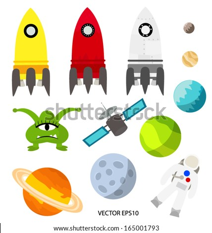 Universe vector set isolated - stock vector