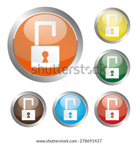 Unlock Icon - stock vector