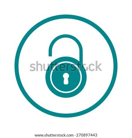 Unlock icon. Flat design style. Vector EPS10  - stock vector