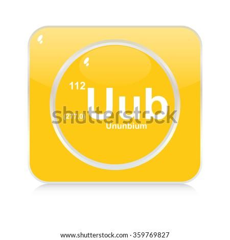 ununbium chemical element button - stock vector