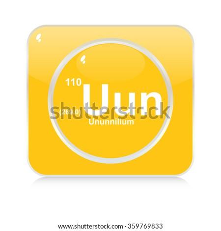 ununnilium chemical element button - stock vector