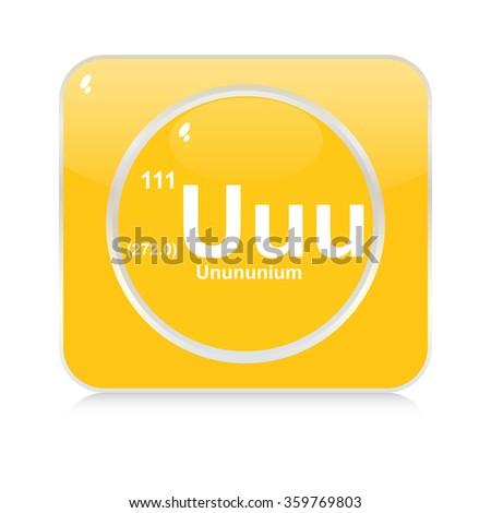 unununium chemical element button - stock vector
