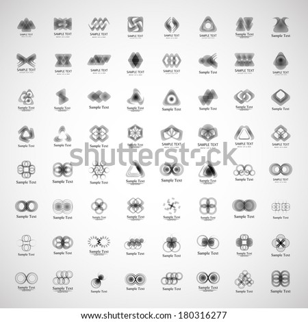 Unusual Icons Set - Isolated On Gray Background - Vector Illustration, Graphic Design Editable For Your Design. - stock vector