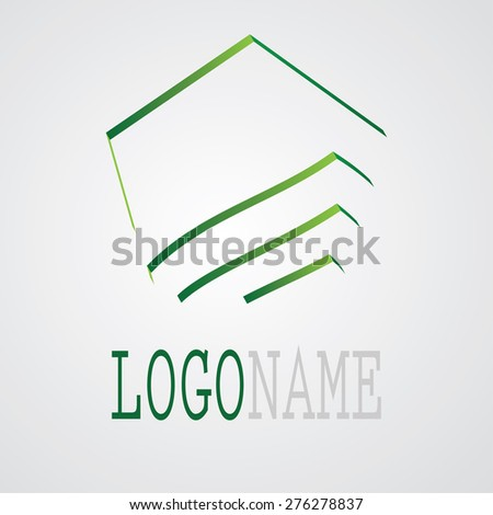 Unusual Modern logo Design or Business Icon. Modern Strips Icon. Vector Illustration.  - stock vector