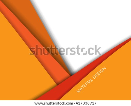 Unusual modern material design vector background. Geometric shapes. Eps10 vector illustration - stock vector