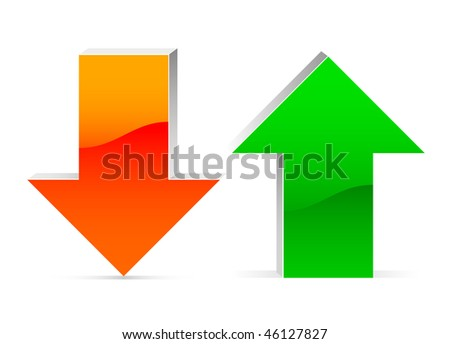 up and down arrow - stock vector