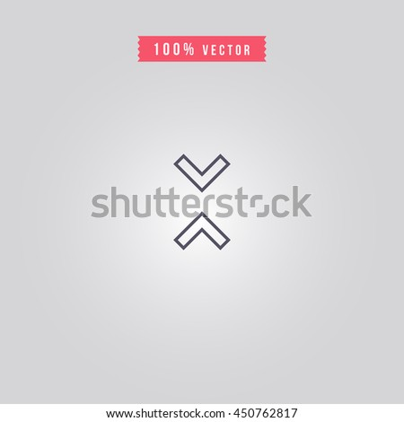 up and down arrow icon. up and down arrow sign - stock vector