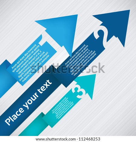 Up arrows with numbers - stock vector