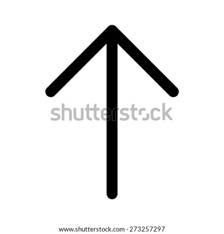 Up directional arrow line art icon for apps and websites - stock vector