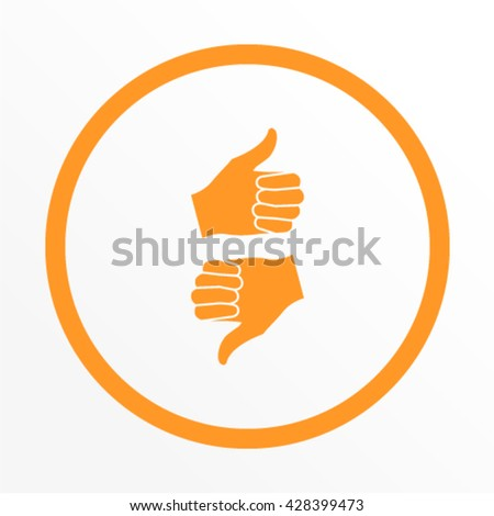 Up like vector icon - stock vector