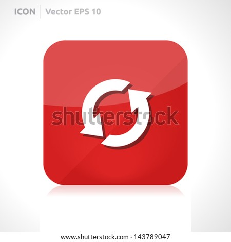 Update icon   vector design template   color red   icon set   abstract with symbol   - stock vector