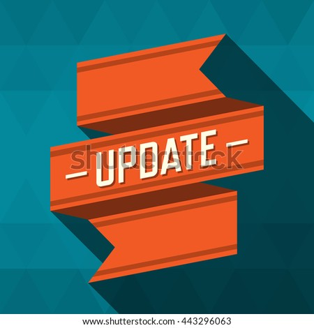 Update ribbon design. vector illustration - stock vector