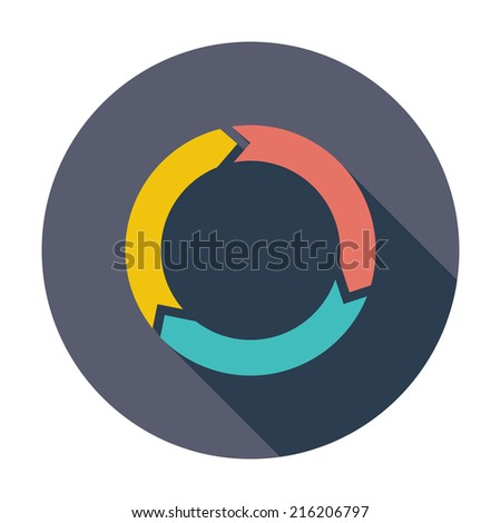 Update. Single flat color icon. Vector illustration. - stock vector
