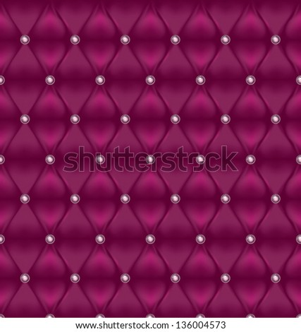 Upholstery pattern. Seamless background. - stock vector