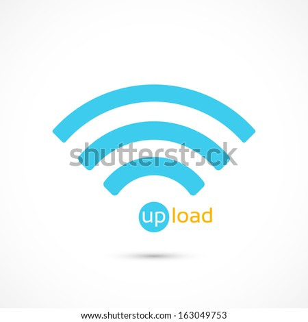 upload - Vector icon isolated - stock vector