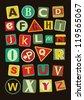 urban alphabet design. vector illustration - stock vector