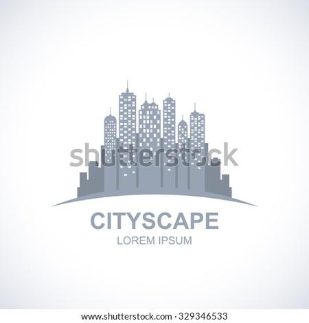 Urban cityscape icon. Real estate concept. - stock vector