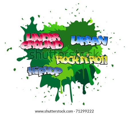 Urban graffiti design on blobs background. Jpeg version also available in gallery - stock vector