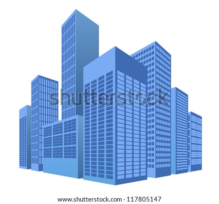 urban scene, city vector illustration - stock vector