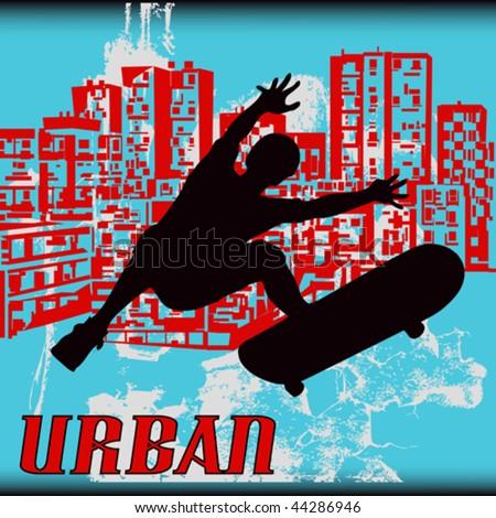 Urban Skater - stock vector