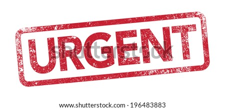 Urgent red stamp - stock vector