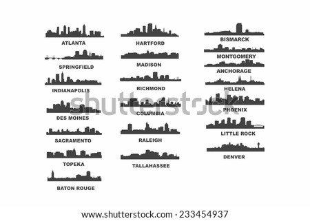 US Capitals - stock vector