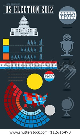 US Election 2012 - stock vector