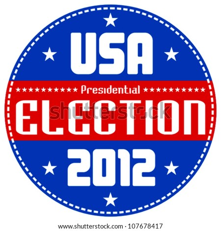 US presidential election 2012 badge - stock vector