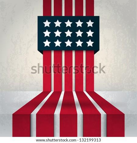 USA Abstract Flag - stock vector