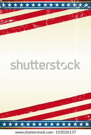 USA. american grunge background of a poster. - stock vector