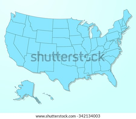 USA blue map on degraded background vector - stock vector