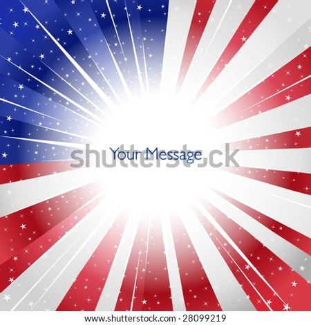 USA color explosion - stock vector