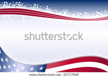 USA corporate background - Winter - stock vector