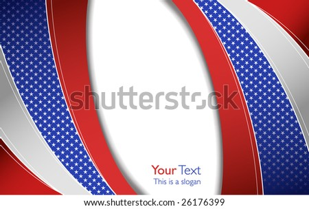 USA corporate design template - stock vector