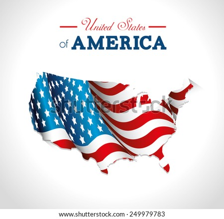USA design over white background, vector illustration. - stock vector