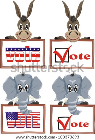 usa election - stock vector