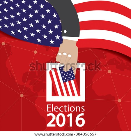USA Election Concept Vector Illustration - stock vector