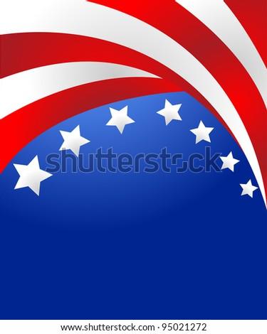 USA flag in style vector - stock vector