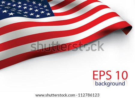 USA Flag - Old Glory flag VECTOR - stock vector
