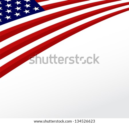 USA flag. United States flag background. Vector - stock vector