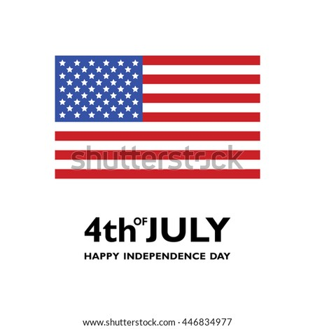 USA flag vector icon. Happy Independence Day. Fourth of July - stock vector