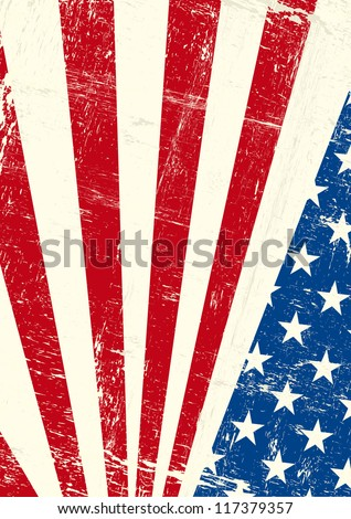 USA  grunge poster. An american grunge flag for you - stock vector