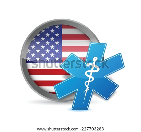 usa health concept illustration design over a white background - stock vector