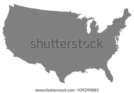 Usa map of gray color - stock vector