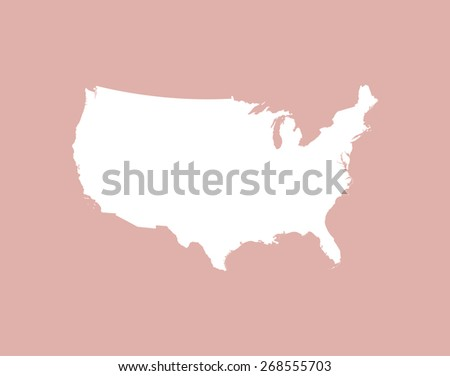 USA map on a background - stock vector