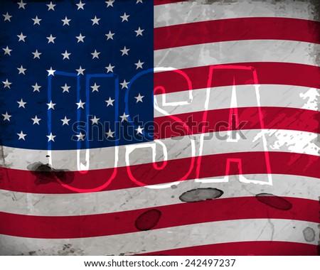 USA retro background with grunge effect for vintage design/vector illustration - stock vector