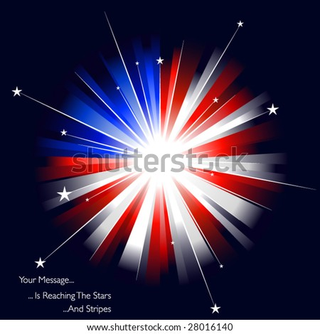USA styled firework - stock vector